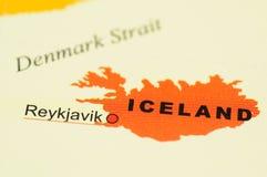 iceland översikt royaltyfri fotografi