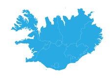 iceland översikt Hög detaljerad vektoröversikt - Island vektor illustrationer
