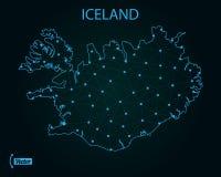 iceland översikt också vektor för coreldrawillustration gammal värld för illustrationöversikt stock illustrationer
