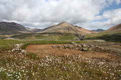 Iceland. Stafafell and Lonsoraefi rhyolite mountains in Iceland. Inactive volcano. Beautiful landscape Stock Photo