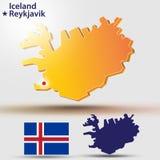 iceland vektor illustrationer