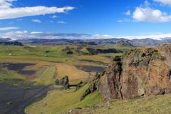 Iceland. General landscape in Iceland highlands.  Horizontal format Royalty Free Stock Images