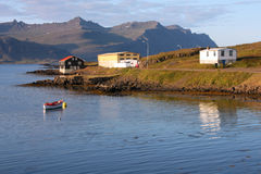 Iceland. Djupivogur - small fishing town in Iceland. Mountains and fiord Royalty Free Stock Image