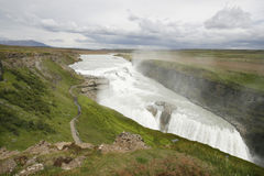 Iceland. Gullfoss waterfall - one of the most popular natural attractions of Iceland Royalty Free Stock Photography