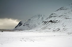 Iceland. Rocky mountains in a overcast april day stock images