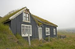 Iceland. Typical Icelandic old house, Fljotsdalur, Iceland royalty free stock image