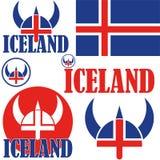 iceland royaltyfri illustrationer