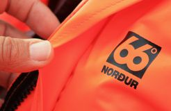 Iceland - 66ºN Brand. 66°NORTH Ltd. is one of Iceland's oldest manufacturing companies. Established in the year 1926, it's been a longtime leading Royalty Free Stock Photos