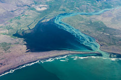 Iceland: aerial photography of the southern coast. royalty free stock images