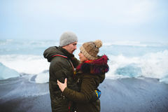 Iceland Afterwedding Love Story Royalty Free Stock Image