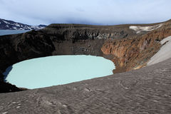 Iceland. Askja and Viti craters. Highland area. Stock Image