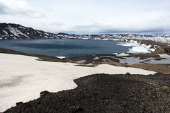 Iceland. Askja and Viti craters. Highland area. Stock Photo