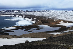 Iceland. Askja and Viti craters. Highland area. Royalty Free Stock Photos