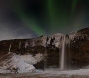 Iceland Aurora. Night photography of Iceland Stock Images