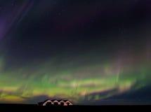 Iceland Aurora. Night photography of Iceland with aurora borealis and stars Stock Photos