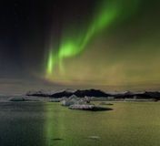 Iceland Aurora. Night photography of Iceland with aurora borealis and stars Royalty Free Stock Images