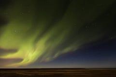 Iceland Aurora. Night photography of Iceland with aurora borealis and stars Stock Image