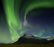 Iceland aurora. Night photography of Iceland Jokulsarlon Stock Photos