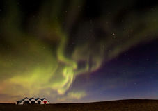 Iceland Aurora. Night photography of Iceland Jokulsarlon Royalty Free Stock Photography