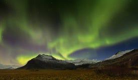 Iceland Aurora. Night photography of Iceland Jokulsarlon Royalty Free Stock Photo