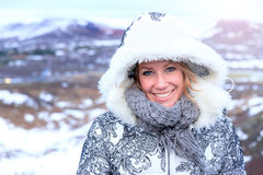 Iceland beauty portrait Royalty Free Stock Photography