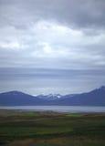 iceland bergsikt Arkivfoto