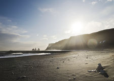 Iceland Black Beach Royalty Free Stock Photo
