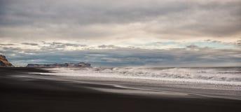 Iceland. Black beach Stock Image