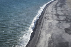 Iceland black sand beach Royalty Free Stock Photos