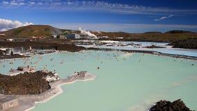 Iceland 2012. Blue Lagoon geothermal spa in Iceland in summer 2012 between Keflavik and Reykjavik Stock Photo