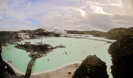 Iceland Blue Lagoon. Geothermal waters of Blue Lagoon in Iceland stock image
