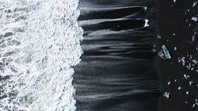 Iceland briliant beack aerial drone black beach 100fps