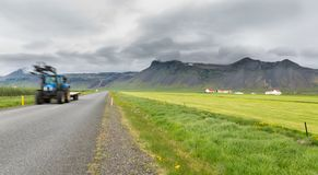 Iceland by car... trail! Royalty Free Stock Images