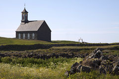 Iceland: Church in a small hamlet Royalty Free Stock Photos