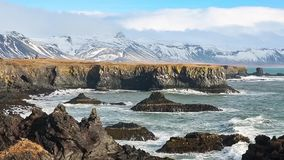 Iceland coast view stock footage