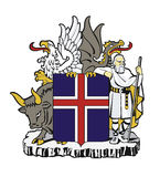 Iceland coat of arms Royalty Free Stock Image