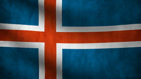 Iceland country flag stock footage