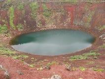 Iceland - crater lake Keri Royalty Free Stock Image