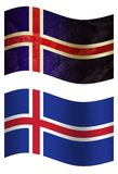 Iceland 3D country flag, two styles stock illustration