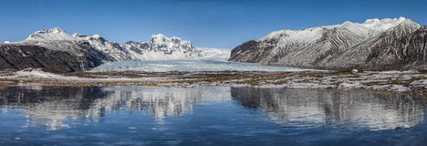Iceland day landscapes panorama. Photo taken at glacier of Iceland Royalty Free Stock Images