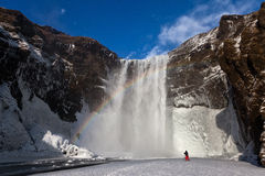 Iceland day landscapes. Photo taken at Lake of Iceland Stock Photo
