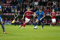 Iceland - Denmark (UEFA Under21) Royalty Free Stock Image