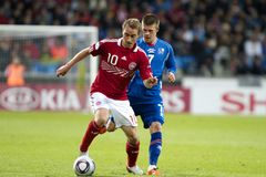 Iceland - Denmark (UEFA Under21) Stock Image
