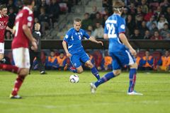 Iceland - Denmark (UEFA Under21) Royalty Free Stock Images