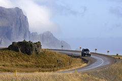 Iceland - Driving - Coastal Road Stock Photo