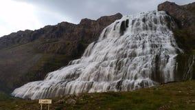 Iceland Dynjandi Waterfall Stock Photography