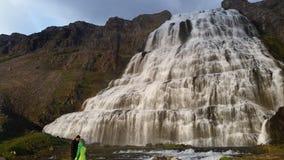 Iceland Dynjandi Waterfall Stock Image