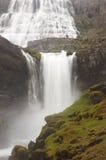 Iceland. Dynjandivogur Bay. Fjallfoss waterfall. Royalty Free Stock Photos