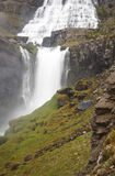 Iceland. Dynjandivogur Bay. Fjallfoss waterfall. Stock Images