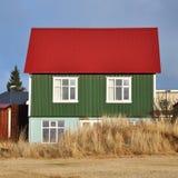 iceland för grönt hus red arkivbild